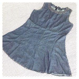 Dresses & Skirts - Denim Dress, A-line Fit Flare, Skater Style